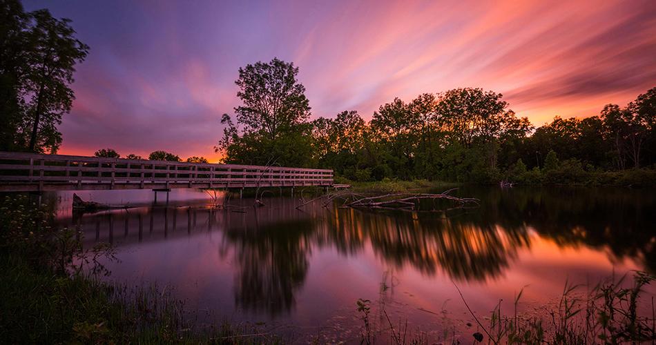 Coucher de soleil aux Lacs Fauvel