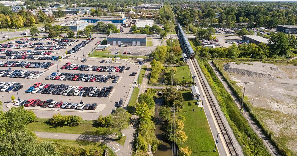 Stationnement de la gare Blainville