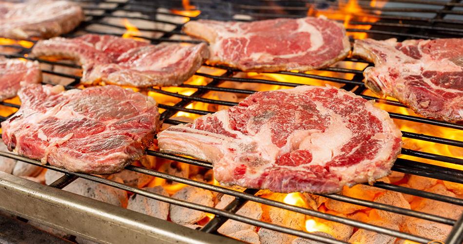 steak sur le BBQ